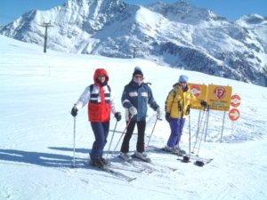 Skiing in La Rosiere