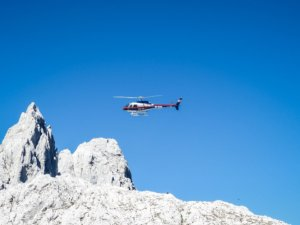 Helicopter to Val d'Isere