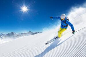 Skier Making Turns