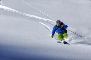 Skier Going Off-Piste
