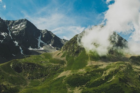 French Alps in the Summer