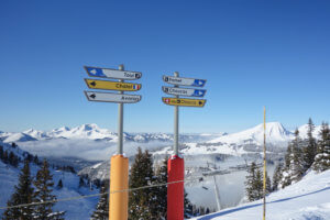 Skiing in Chatel