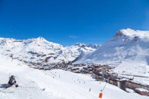 Tignes resort ski slopes