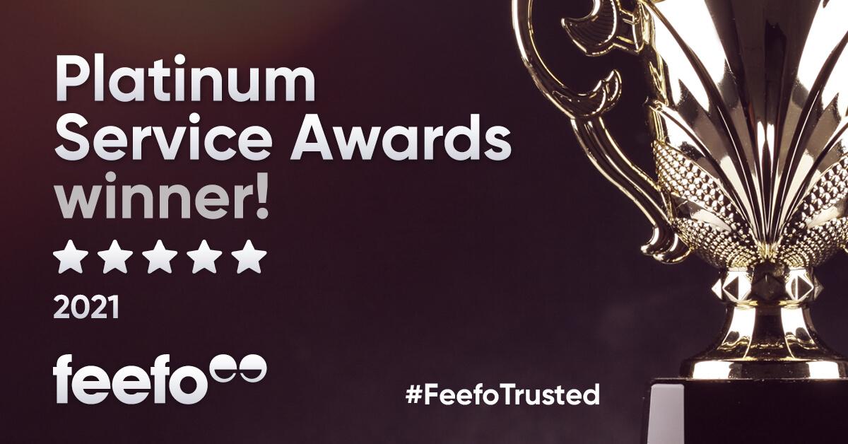 Feefo Platinum Service Award Winner 2021